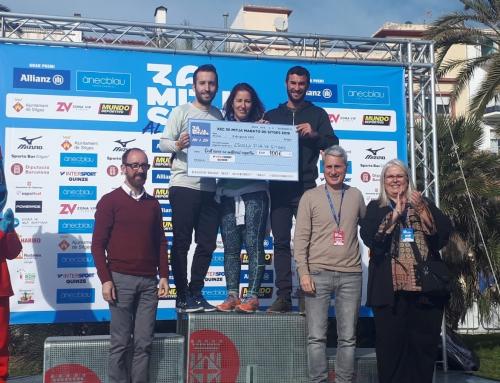 Mitja Marató de Sitges: la nostra escola rep el premi com a centre amb més participants en les curses infantils i juvenils