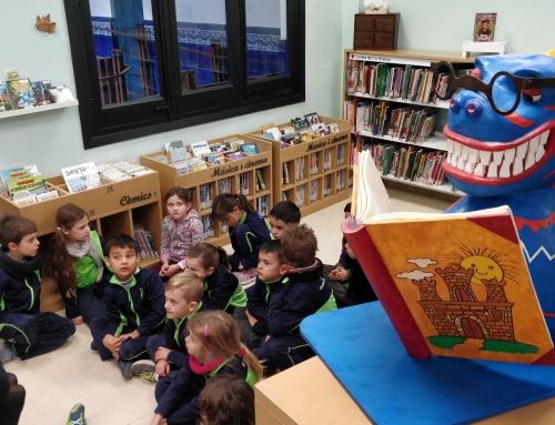 Els de 1r de Primària visitem la biblioteca