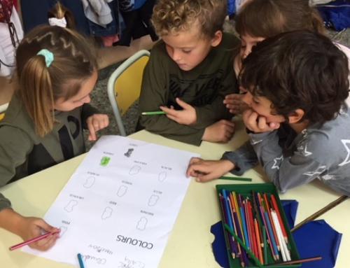 Els petits de primària apliquen el treball cooperatiu en Anglès