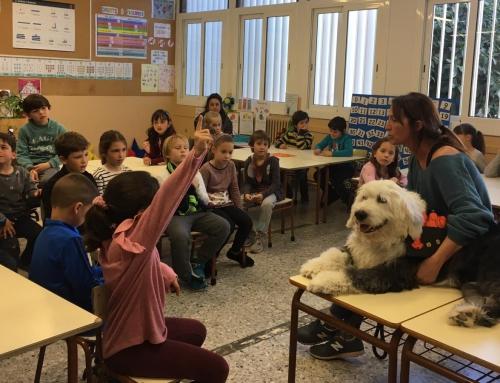 L'Escola incorpora al DOE la intervenció assistida amb gos