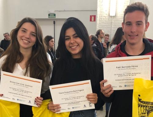 Tres dels nostres alumnes participen en el XI Simposi de Treballs de Recerca del Garraf