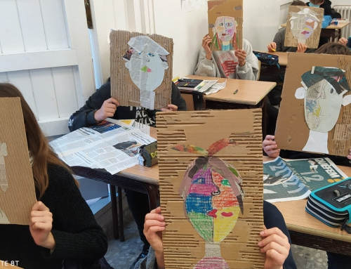 Picasso-style portrait a 1r ESO